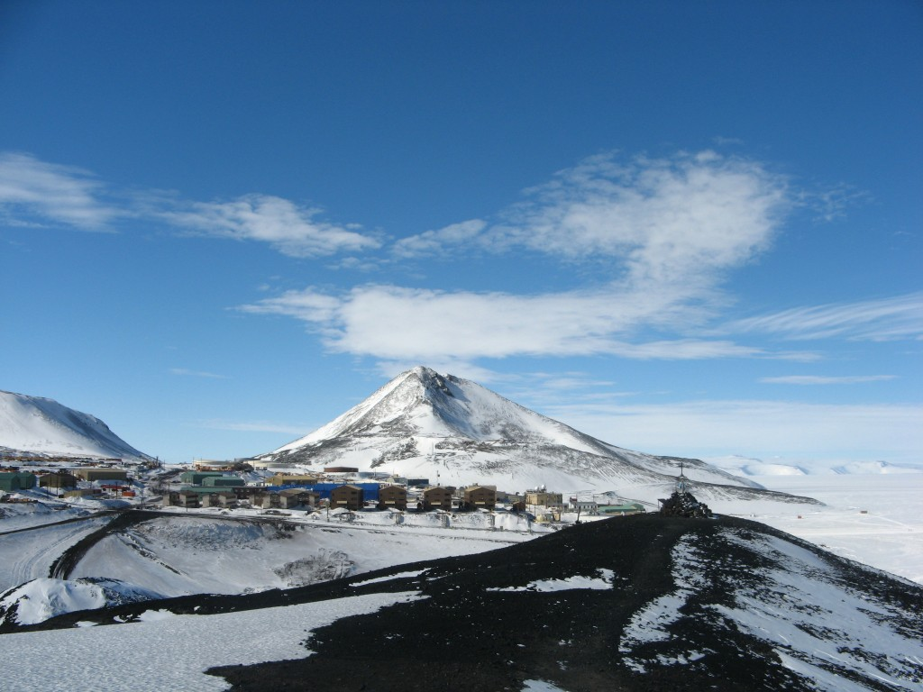 Observation Hill and McMurdo viewed from Hut Point ridge