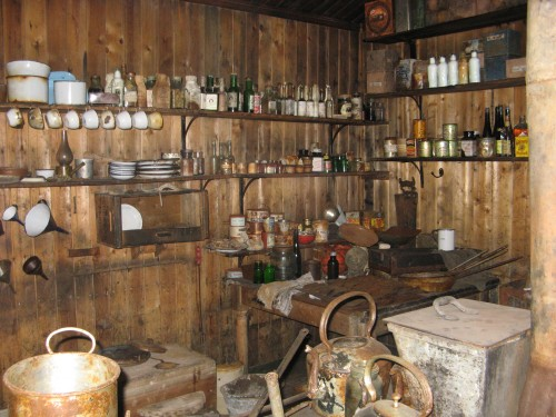 Kitchen at Scott's Hut, Cape Evans