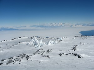 Ice Tower Ridge on the western side of Erebus.