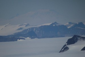 Mackay Glacier on the Antarctic continent, with Erebus in the distant background. Photo: Nels