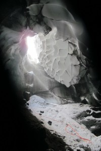 Entrance to Warren Cave, through which equipment has to be lowered in (December 2011; D. Killingsworth)