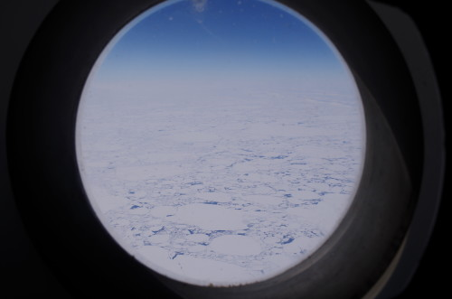 Sea ice from C-17 window