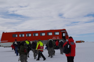Ivan the Terrabus takes us back to McMurdo station (and drops the Kiwis off at Scott Base en route).
