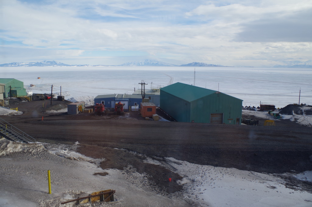Looking south from McMurdo towards the continent.