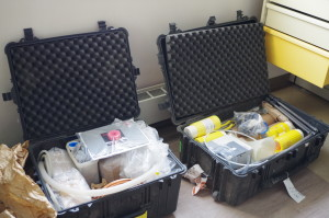 Two of the three cases full of equipment that are coming up to Erebus with us